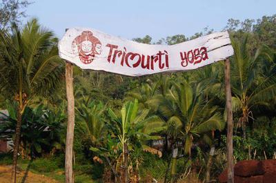 Trimirti Yoga Retreat Goa- the sign