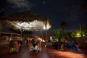 Evening Yin Yoga under the stars
